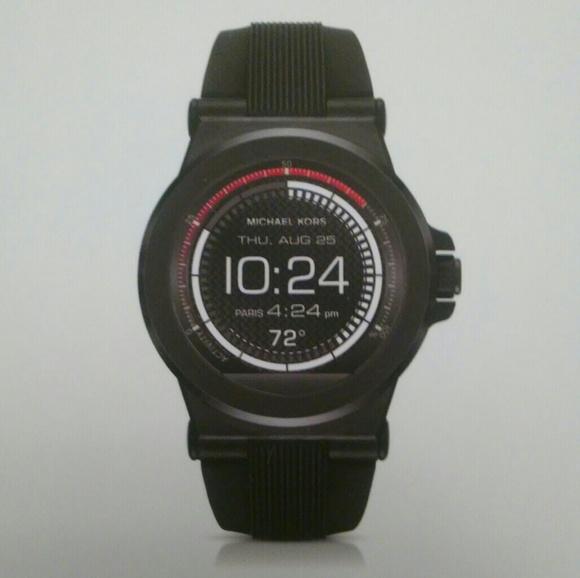 95bd3d348366 NEW Michael Kors Smart Watch Fitness Black MKT5011